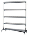 Quality Fabricators¨ Heavy Duty Garment Z-Rack with 5 Shelves