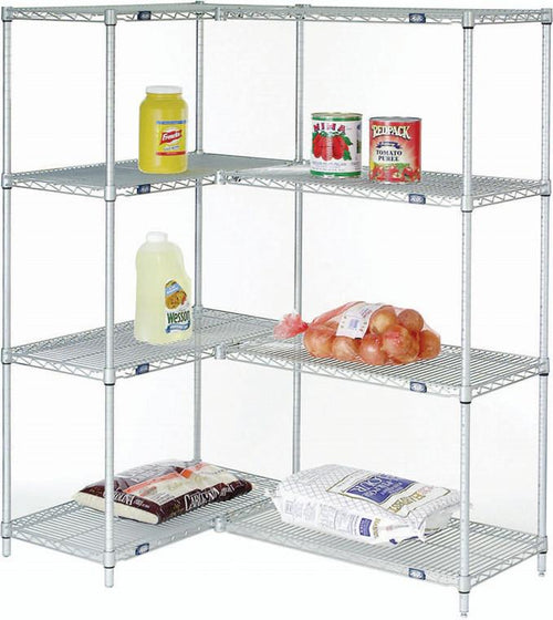 Starter and Add On Shelving Unit 4-Shelf| Height| 4-Shelf (18W x 48L x 74H)