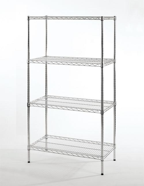 Starter Shelving Unit 4-Shelf| Shelf Size and Height| 4-Shelf (18W x 60L x 63H)