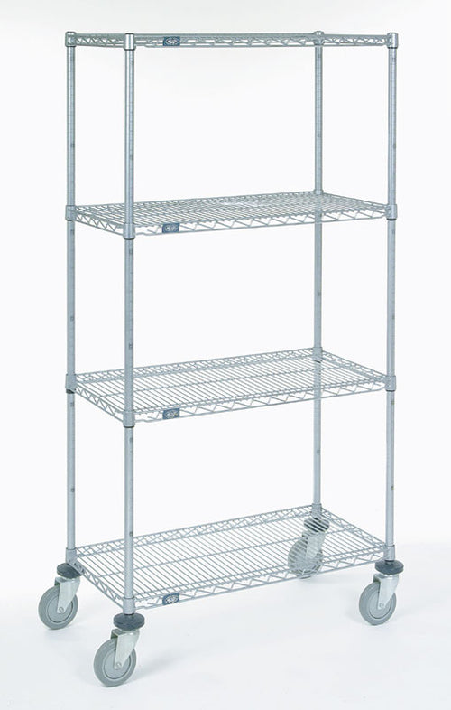 4 Shelf Rack with Rubber Casters| Size| 18W x 48L x 68H