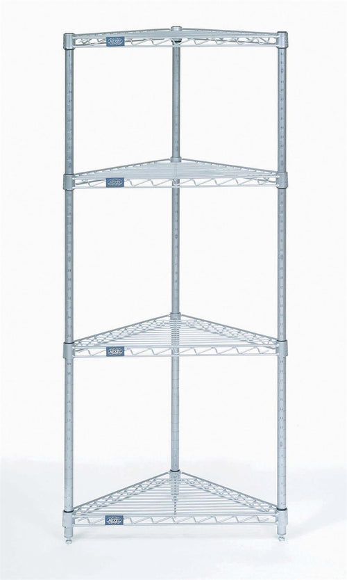 Triangle/Corner 4 Shelf Unit| Size| 4 Shelf Unit (24x24x54)