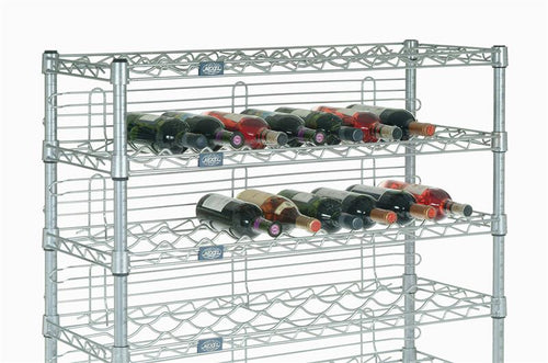 Wine Rack with 8 Shelves, 36 Inches Wide with Ledges