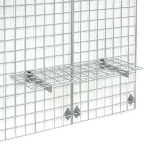 Grid Wall - 12x48 Wire Shelf with Shelf Brackets