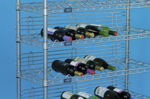 Wine Rack with 5 Shelves 48 Inches Wide| Ledges| With Ledges