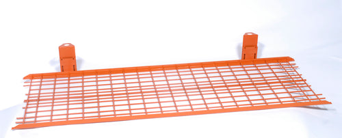 Folding Bottom Shelf for Medium Duty Z Rack Color Orange