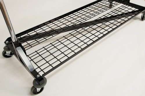 Folding Bottom Shelf for Medium Duty Z Rack Color  Black