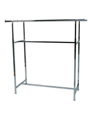 Double Rail Chrome Display Rack