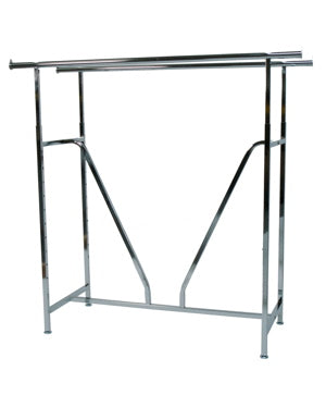 Double Rail Chrome Display Rack with V Brace