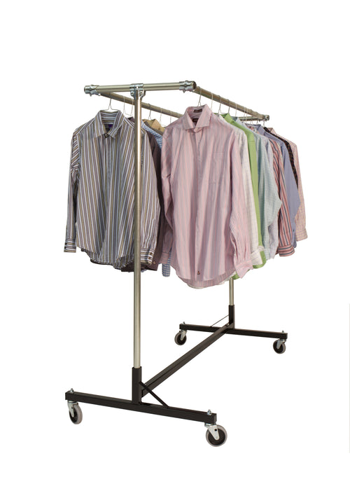 The Gemini - Quality Fabricators¨ Heavy Duty H-Rack Double Hang Rail| Size| 63L x 30W x 67H
