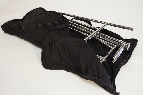 Collapsible Single Rail Rack with Carry Case