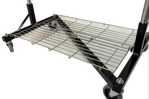 Folding Bottom Shelf for 3' Quality Fabricators¨ Heavy Duty Z Rack