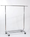 Collapsible Single Rail Rack With Bottom Shelf