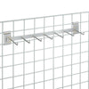 Grid Wall - 2 Hook Rail Bars 24 inches long with 7 - 5in. Hooks