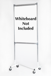 Quality Fabricators¨ Whiteboard rack 3 ft base with 6 ft uprights and two whiteboard rails