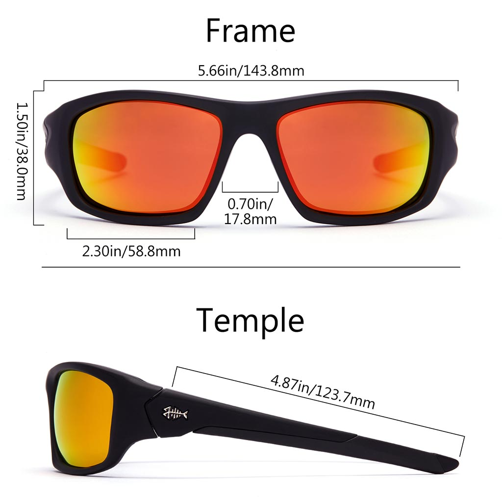 Frame-Matte Black, Lens-Red Mirror