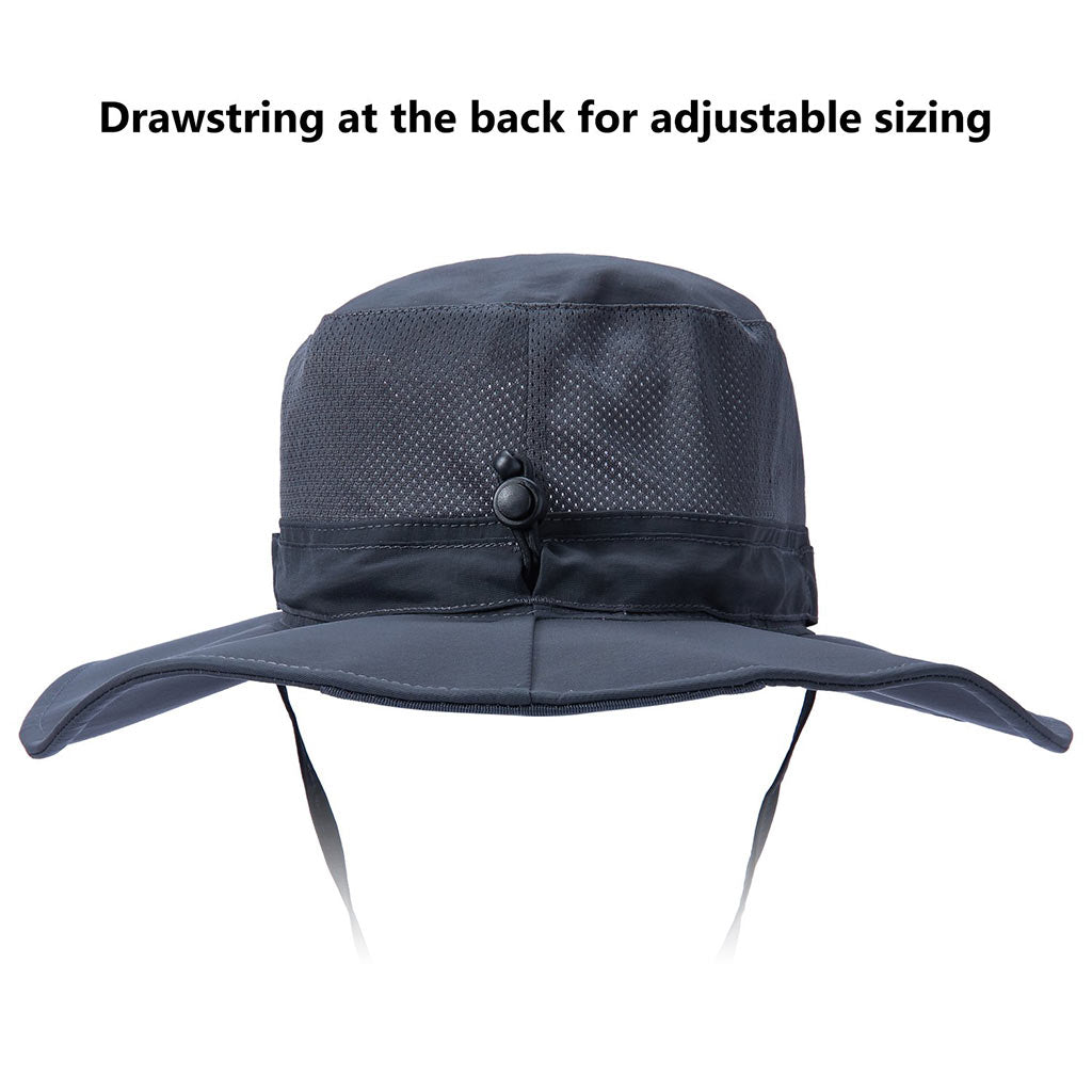 Bassdash UPF 50+ UV Protection Bucket Hat Water Resistant Wide Brim Tactical Fishing Hat Adjustable Size with Detachable Neck Flap for Men and Women