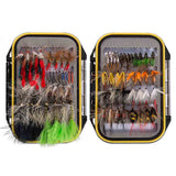Bassdash 72 Pcs Fly Fishing Assorted Flies Kit with Waterproof Fly Box