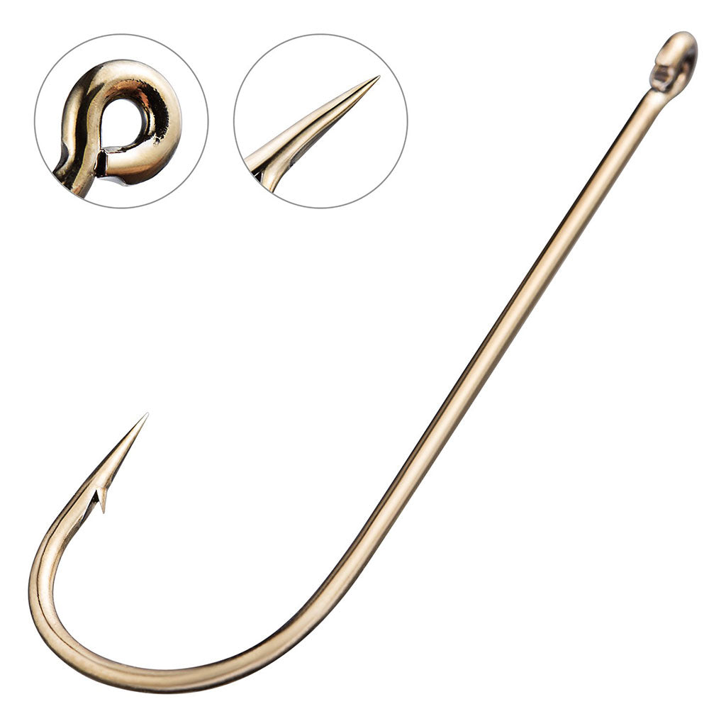 Bassdash 180 Pcs Aberdeen Hooks in Assorted Sizes For Saltwater Freshwater Fishing