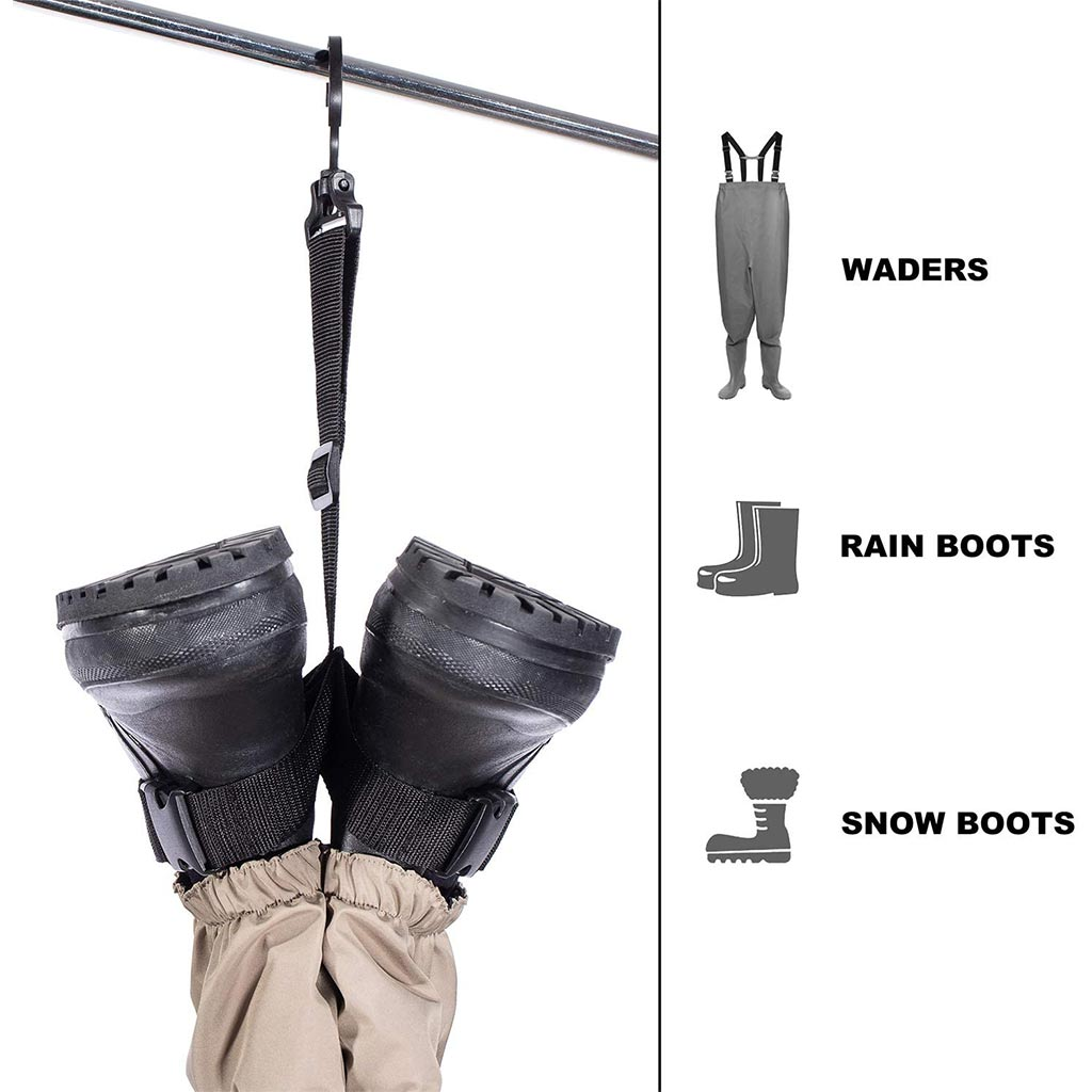 Bassdash Fishing Wader Boot Hanger Adjustable Strap for Storage Drying