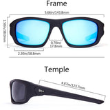 Frame-Matte Black/Lens-Blue Mirror