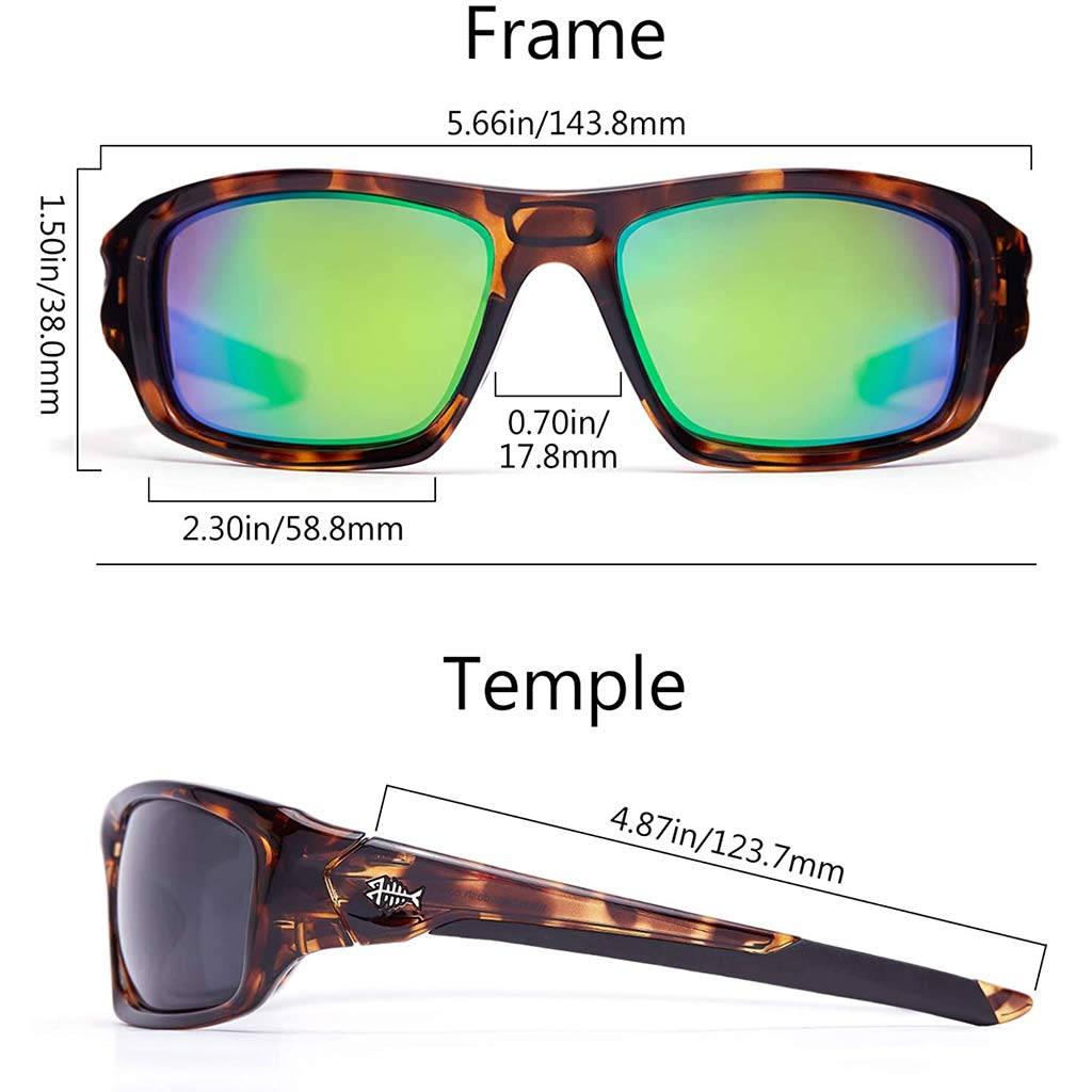 Frame-Gloss Demi/Lens-Green Mirror