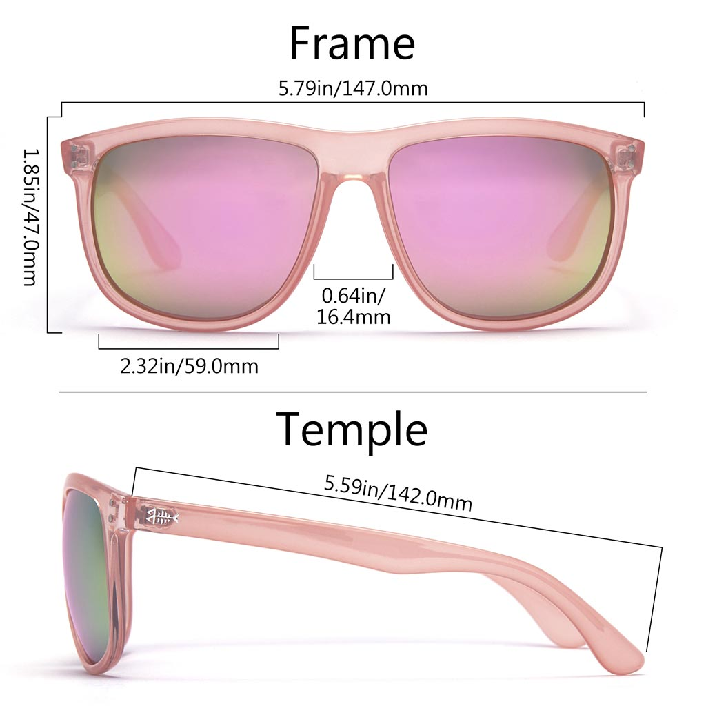 Frame - Gloss Jelly Pink, Lens - Champagne Mirror