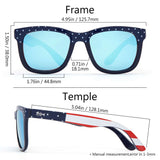 Frame – US Flag/Lens – Blue Mirror