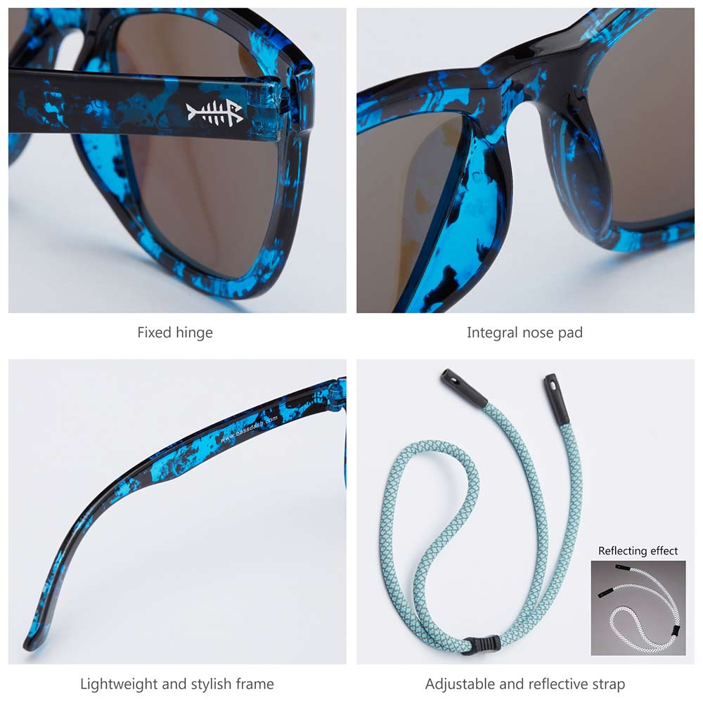 Frame – Gloss Abstract Seaweed/Lens – Blue Mirror