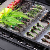 Bassdash 80 Pcs Fly Fishing Assorted Flies with Waterpoof Fly Box