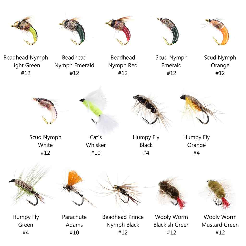 Bassdash 76 Pcs Fly Fishing Lure Trout Flies Kit with Fly Box