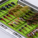 Bassdash 40pcs Trout Steelhead Salmon Fishing Flies Assortment Fly Lure Kit with Fly Box