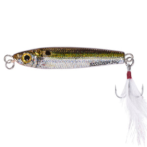 Bassdash GUNGNIR Light Jigging Casting Lures 20 Grams 30 Grams with VMC Hooks, One Piece