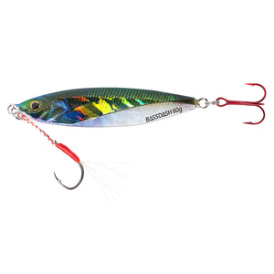 Bassdash Shadow Jigging Lures 20/30/40/60/100/150/200 Grams, One Piece
