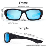 Frame – Matte Black/Lens – Blue Mirror