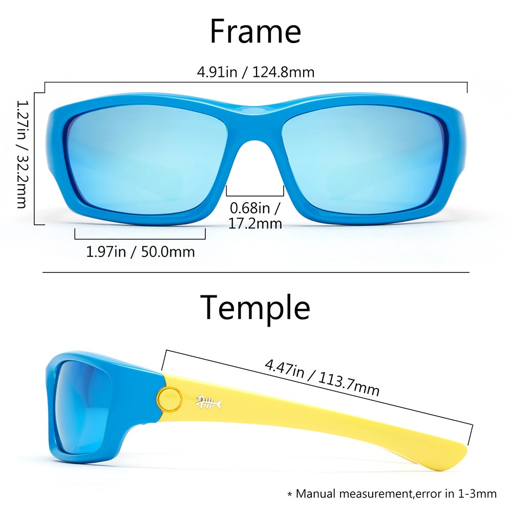 Frame – Blue & Yellow/Lens – Blue Mirror