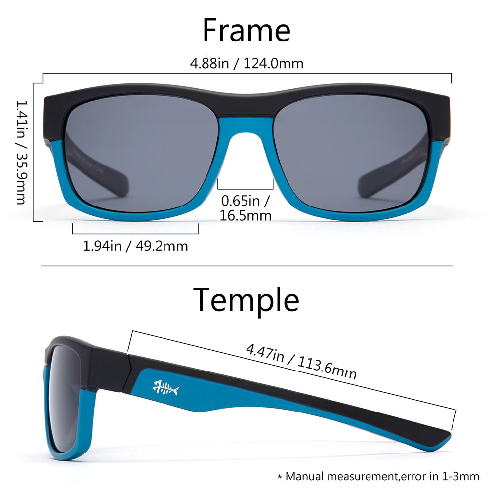 Frame – Matte Black & Matte Blue/Lens – Grey
