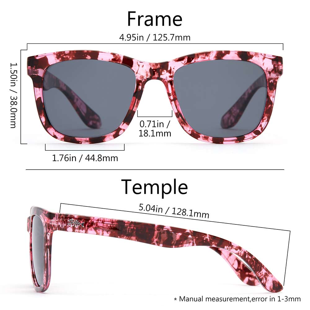 Frame – Transparent Purple Flower/Lens – Grey
