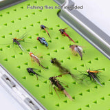 Bassdash Waterproof Single Side Fishing Flies Storage Box with Silicone Slits Insert