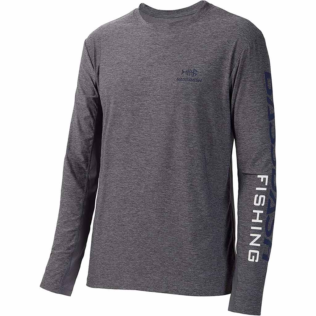Heather Grey/Dark Blue Logo