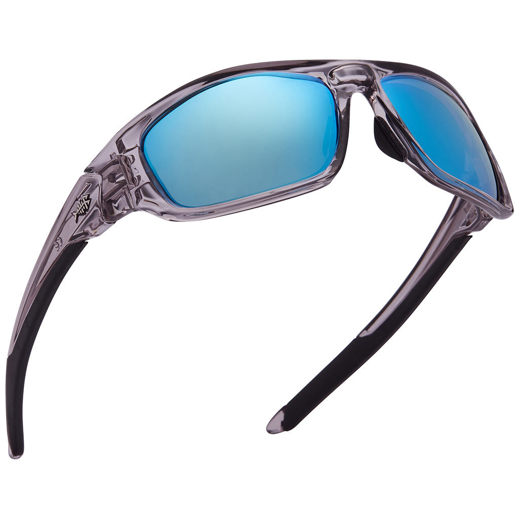 Frame-Transparent Grey/Black, Lens-Blue Mirror