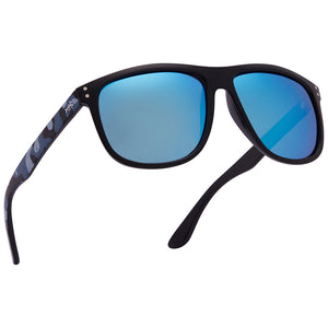 Frame - Gloss Black & Blue Camo, Lens - Blue Mirror