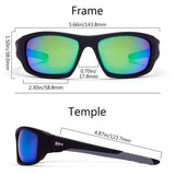 Frame-Matte Black/Grey, Lens-Green Mirror
