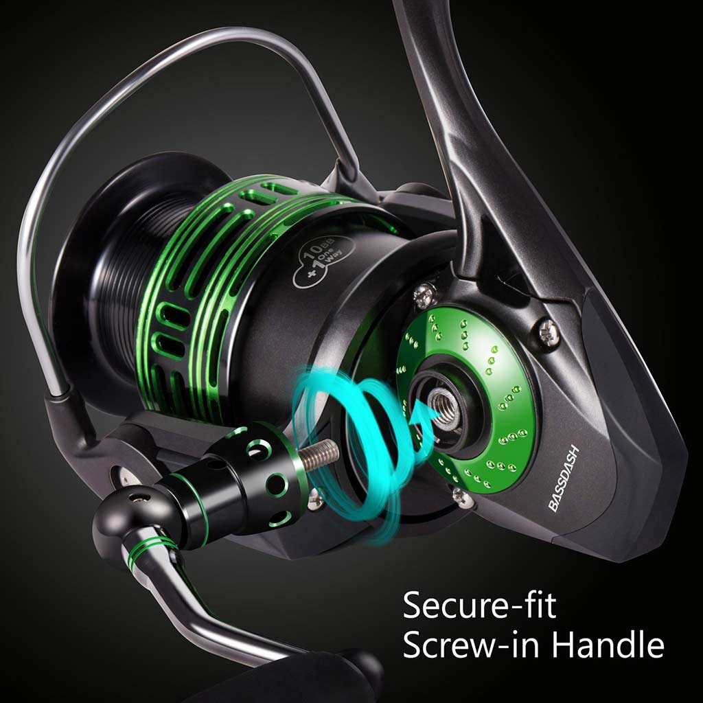 Bassdash Alien Ultra Lightweight Carbon Spinning Fishing Reel
