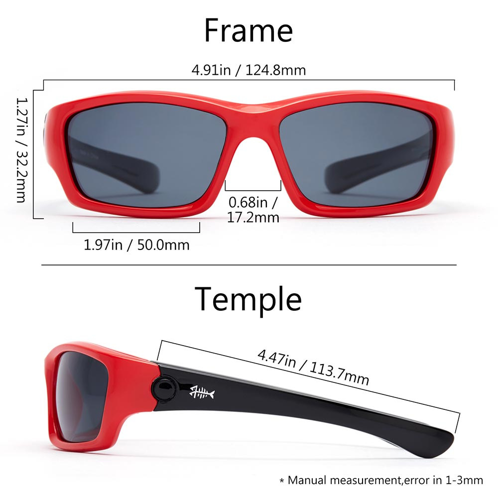 Frame – Red & Gloss Black/Lens – Grey