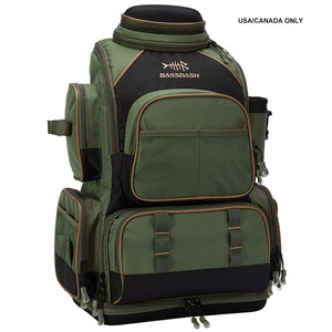 Bassdash Waterproof Fishing Tackle Backpack [3670] Tactical Bag With 4 Trays