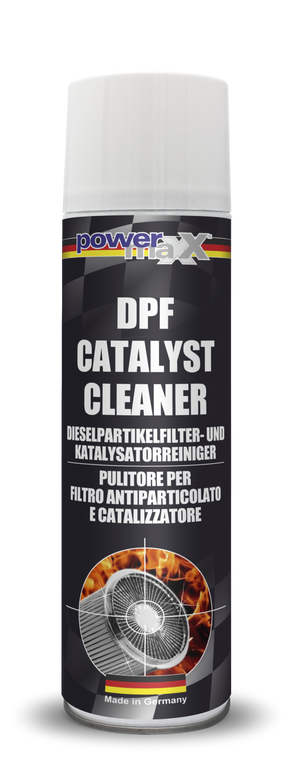 DPF Catalyst Cleaner dissolves and removes all contamination and soot residues from the particulate filter and the catalyst – no disassembling required. It eliminates any performance decrease or disruption caused by contaminated particulate filter