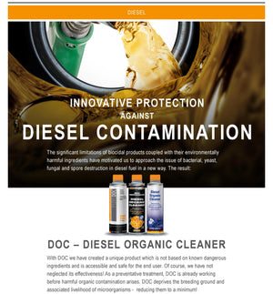 Diesel Organic Cleaner (DOC) 300ml - Just European