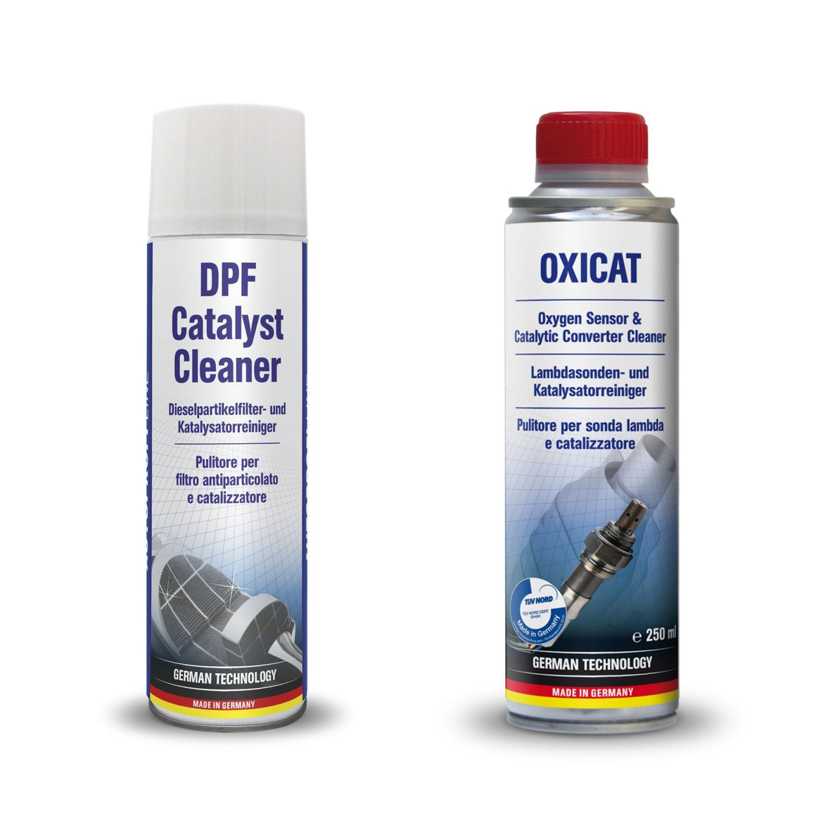 AUTOPROFI DPF / Cat. Cleaner Spray 400ml & OXICAT OXYGEN SENSOR & CAT. CONVERTER CLEANER 250ML - KIT - Just European