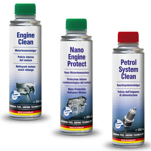 AUTOPROFI ENGINE CLEAN - 250ML & NANO ENGINE PROTECT 250ML & AND PETROL SYSTEM CLEAN  250ML - KIT - Just European