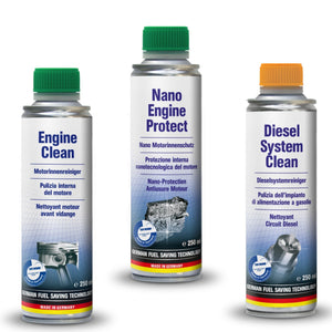 AUTOPROFI  Engine Clean 250ml & Nano Engine Protect 250ml & Diesel System Clean 250ml - KIT - Just European